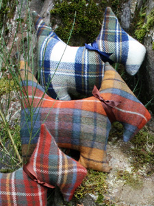 terrier tam tartan cushions