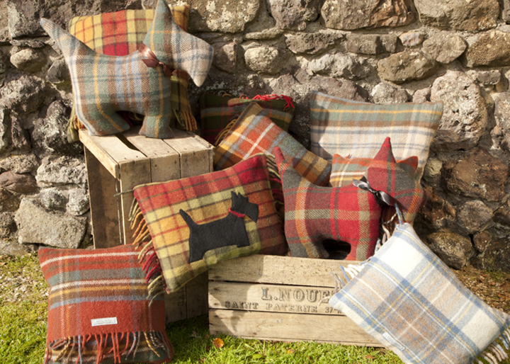 traditional tartan cushions